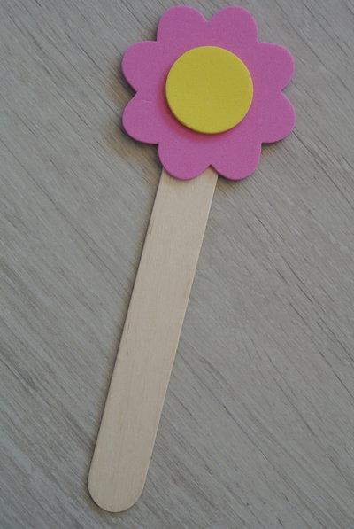 Segnalibro fiore rosa