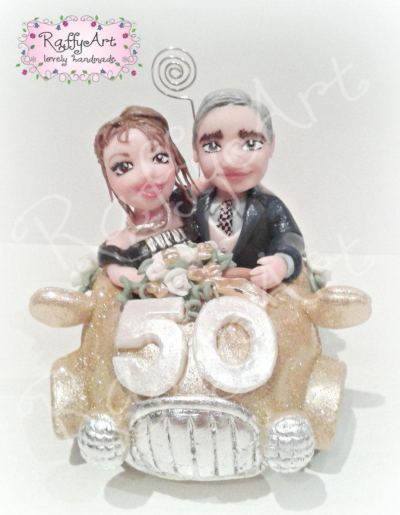 """Matrimonio In Oro : Cake topper anniversario di matrimonio """"coppia d oro"""