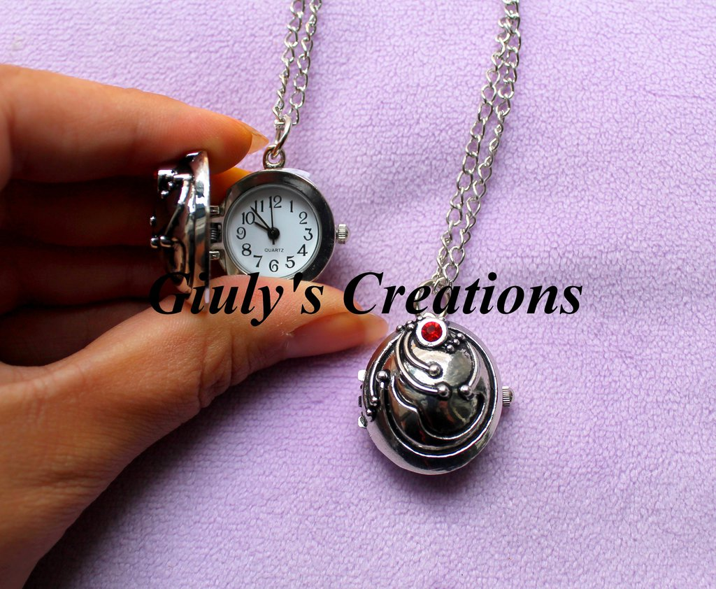 Collana orologio medaglione di Elena Gilbert THE VAMPIRE DIARIES Stefan e Elena
