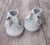 Scarpine ecopelle con fiocco Pupazzo di neve - Bimba 3-6 mesi