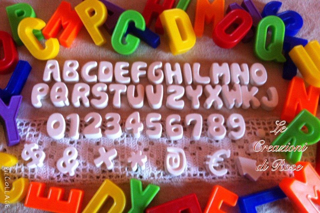 Gessi segnaposto gessetti profumati bomboniera lettere alfabeto e numeri
