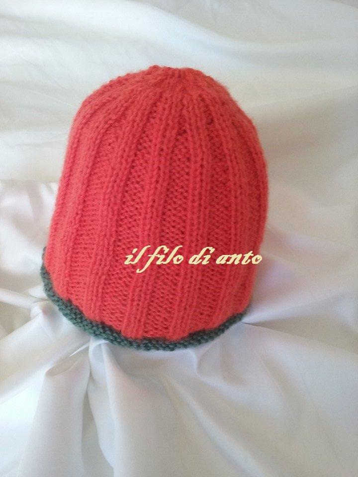 """cappello/berretto in lana """" dolce zucca"""""""