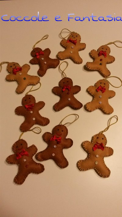 40 decorazioni natalizie con soggetti vari