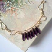 Collana wire oro tanzanite