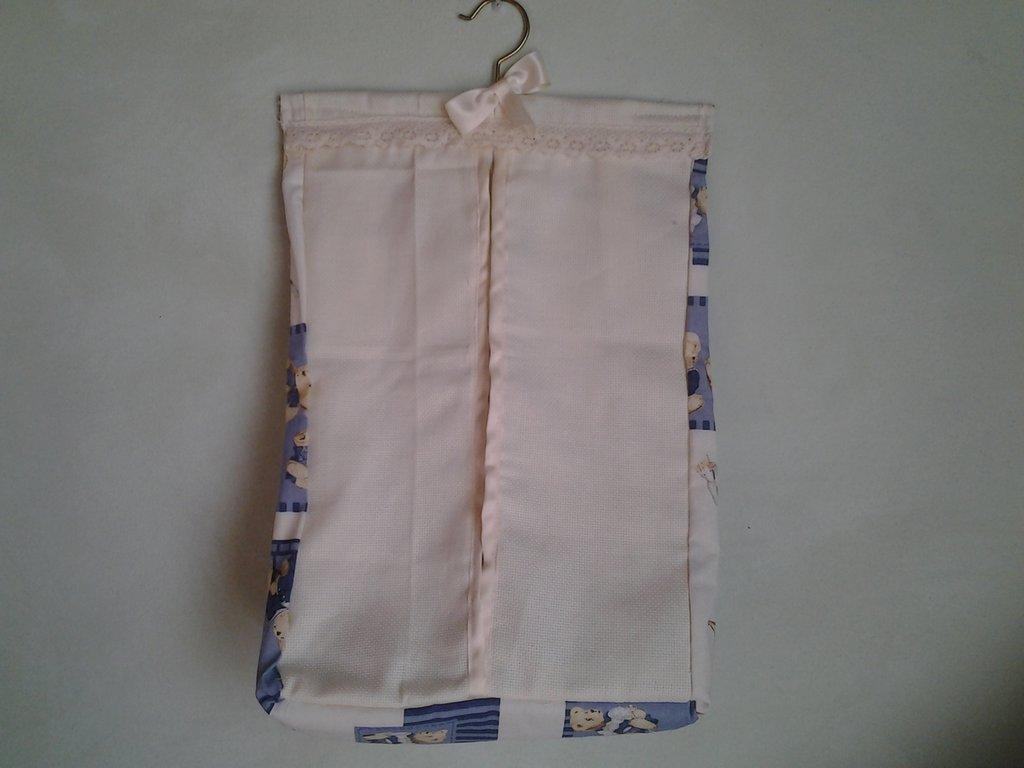 Porta pannolini e o pigiamino con inserto tela aida