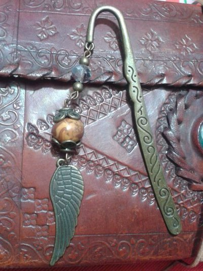 """Segnalibro in metallo bronzato """"Ala"""""""