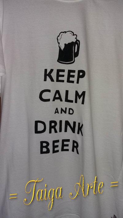 Maglietta keep calm... beer