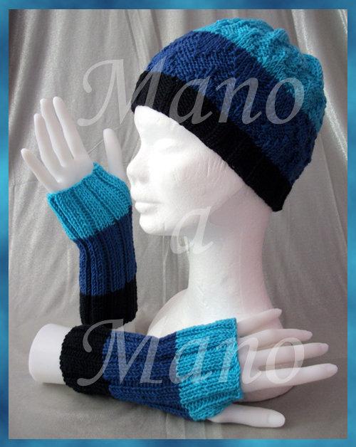 Set Cappello e Scaldamani - azzurro blu