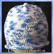 Cuffia baby - bianco azzurro
