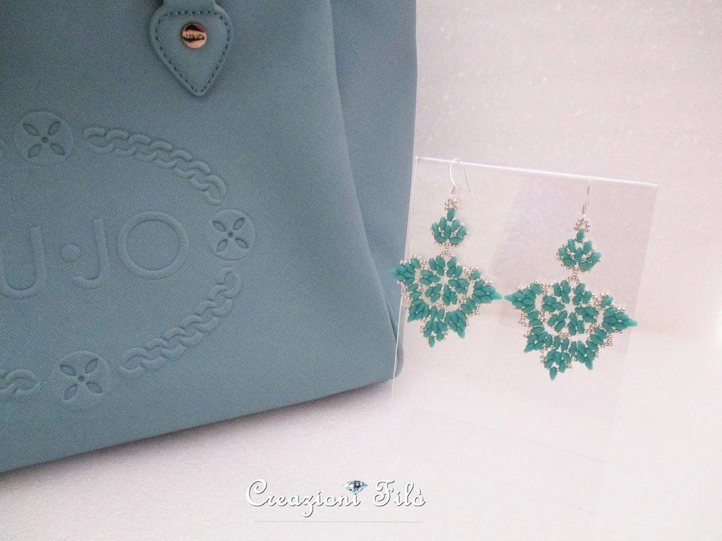 Orecchini pendenti turquoise
