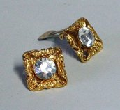 ORECCHINI VINTAGE - SQUARE STRASS AND FILIGRANA VINTAGE EARRINGS