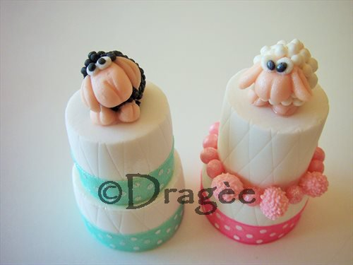 Minicake in pasta di zucchero personalizzata