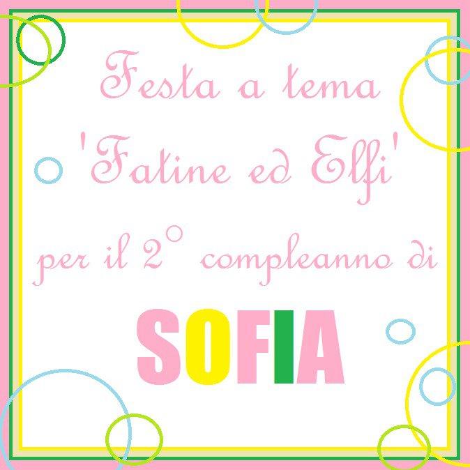 Festa 'Fatine ed Elfi' per il 2° compleanno di Sofia