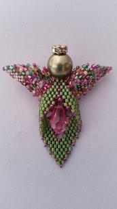 Angelo dell'Amicizia tutorial tecnica tessitura di perline