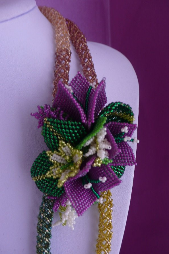 Bouganville tutorial tecnica tessitura di perline