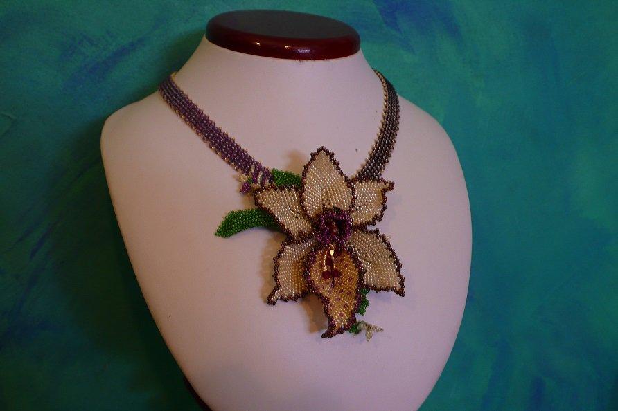 Orchidea tutorial tecnica tessitura di perline