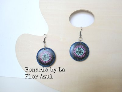 Mini Chicas Orecchini in Legno Bonaria