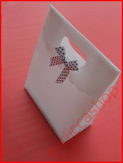 sacchetti fiocco bianchi 6 pz