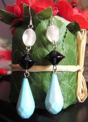 Orecchini pendenti con perla di Murano