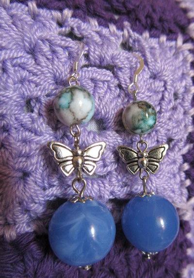 Orecchini pendenti farfalla