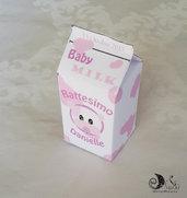 Portaconfetti nascita e battesimo milk box Baby Milk