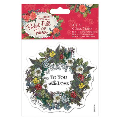 "Clear Stamp - Pocket Full of Posies ""Wreath"""