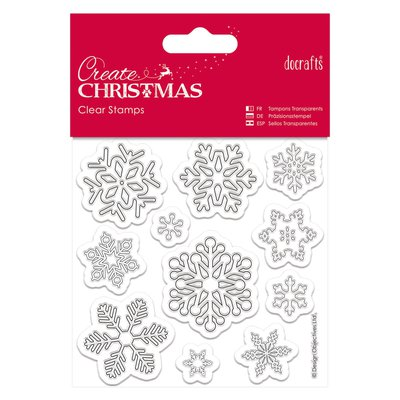 Mini Clear Stamps - Snowflakes