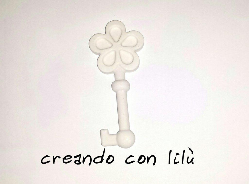 gessetto profumato chiave con fiore cm8