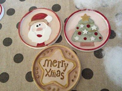 Gessetti profumati dipinti a mano tema natalizio addobbi chiudipacco segnaposto