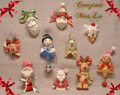 Decorazioni natalizie in paste polimeriche