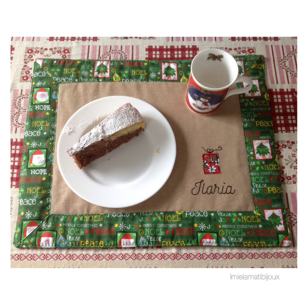 Tovaglietta americana personalizzata Natale