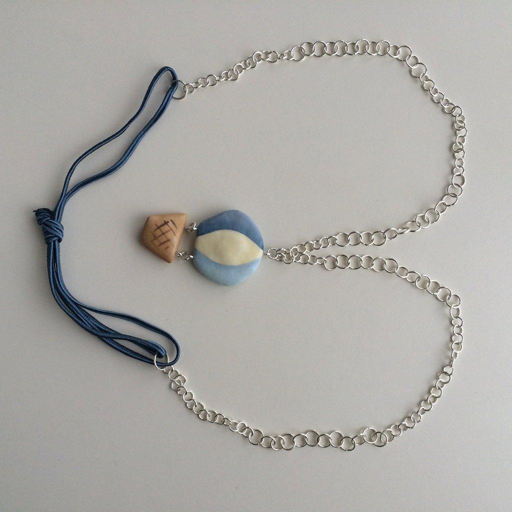 Collana mongolfiera azzurra