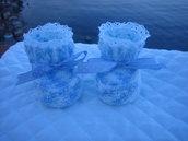 scarpette in lana neonato