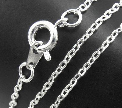 catenina collana  in ottone colore argento 1 pz