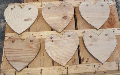 Cuore di legno da decorare