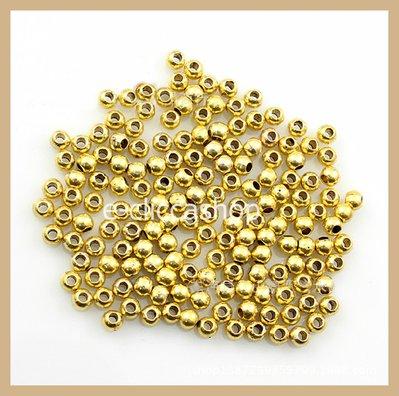 Perline in metallo color oro 200 pz 4mm