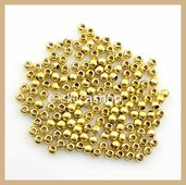 Perline in metallo color oro 200 pz 4mm