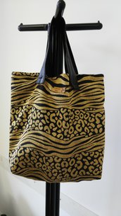 Tote Bag in tessuto animalier