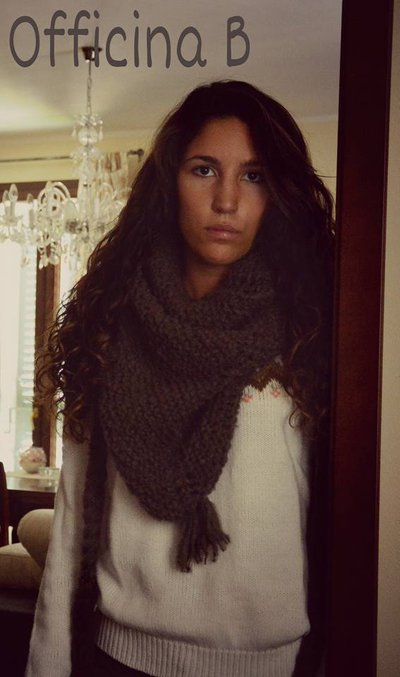 """Sciarpa scaldacollo infinity scarf """"triangolone"""""""