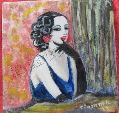 Ritratto di donna - Pittura ad olio - la malignetta