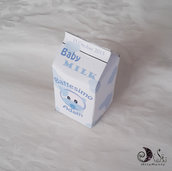 Portaconfetti nascita e battesimo milk box Baby Milk - Baby Boy