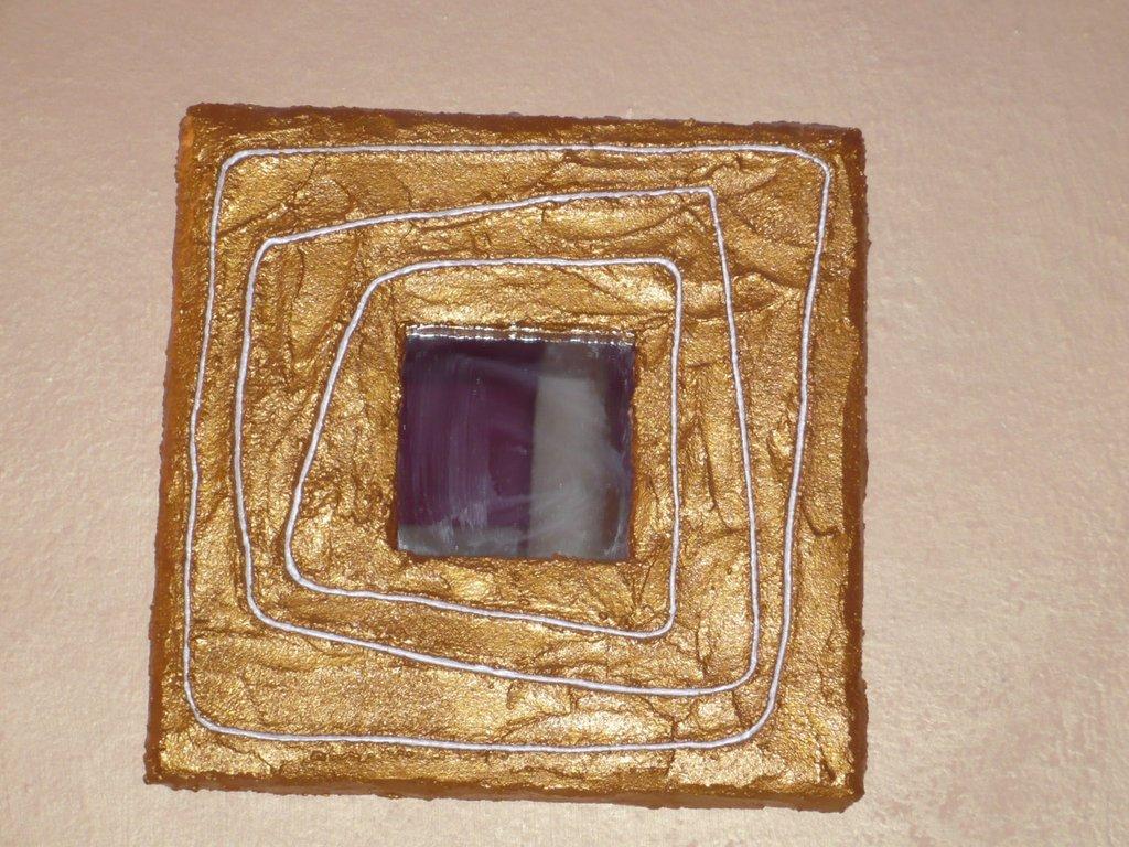 """Cornice+specchio in """"malta"""" 25*25cm"""