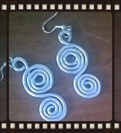 orecchini in alluminio