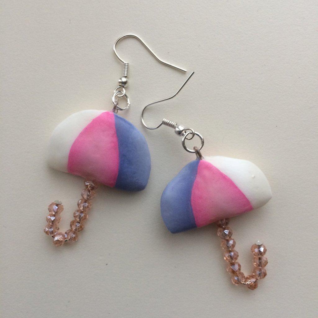Ombrellini country - rosa lilla bianchi