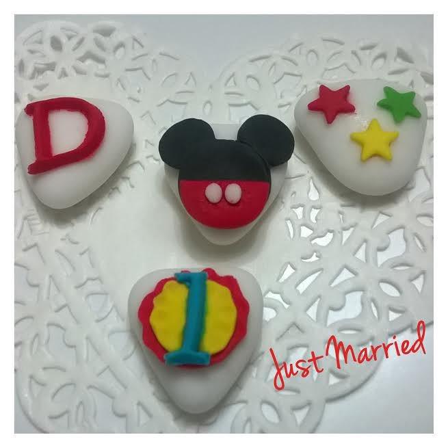 segnaposto primo compleanno, confetti decorati, primo compleanno, bimbo, topolino