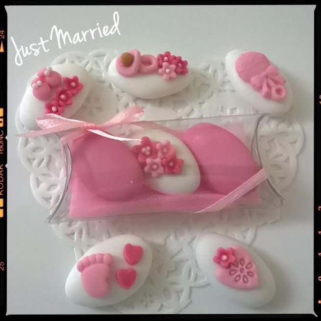 confettata nascita, battesimo, rosa, bimba