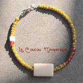 Bracciale semirigido con perle vintage - Linea Satelliti - B.13.2015