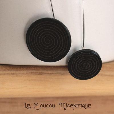 Orecchini pendenti con bottoni vintage - Linea Calder - O.20.2015