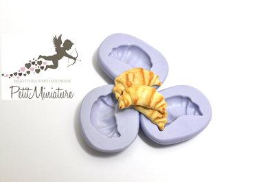 Stampo flessibile silicone croissant 2,5cm Kawaii dolci stampo Fimo gioielli Charms-Stampo Gioielli-Stampo dollhouse ST201