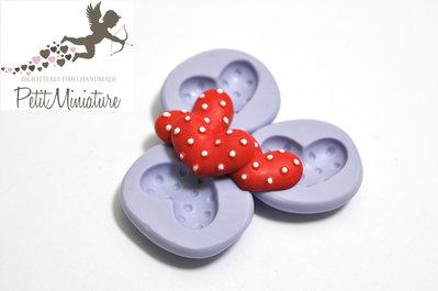 Stampo flessibile silicone cuore pois 2,0cm Kawaii dolci stampo Fimo gioielli Charms-Stampo Gioielli-Stampo dollhouse ST202